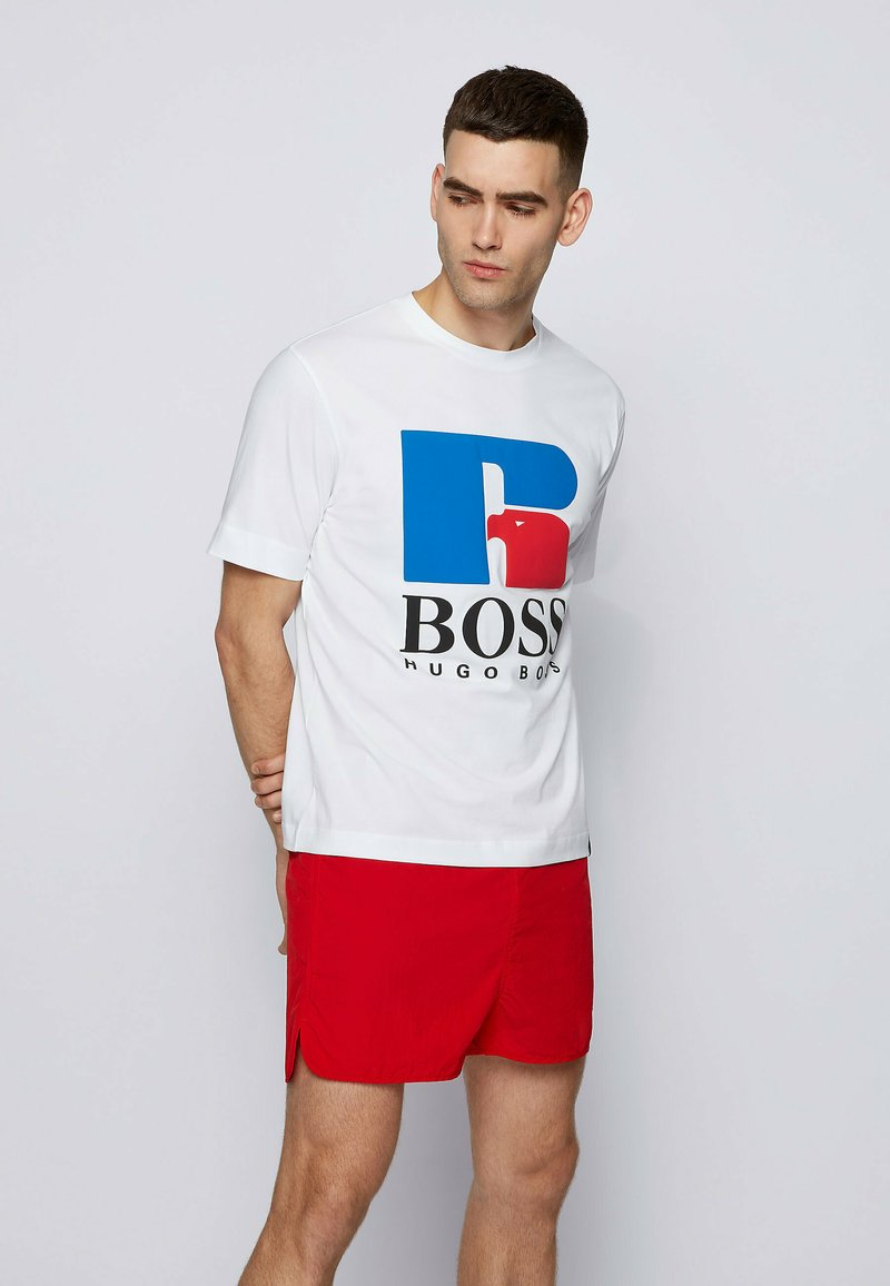 BOSS - Print T-shirt - white