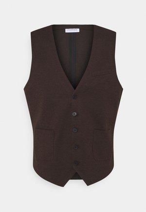 Waistcoat - dark brown mix