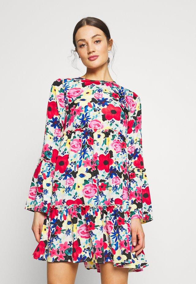 FLOUNCED DRESS - Vestido informal - multi-coloured