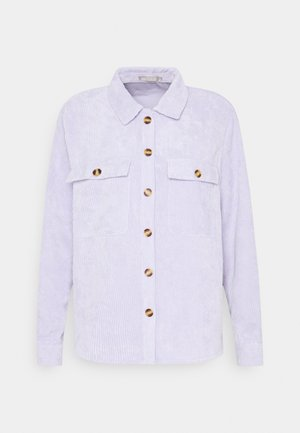 Button-down blouse - purple heather