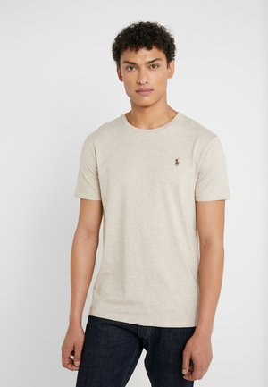 CUSTOM SLIM FIT JERSEY CREWNECK T-SHIRT - T-shirt basic - expedition dune