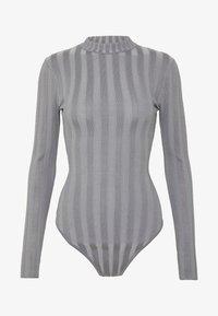 Missguided - EXTREME CREW NECK BODYSUIT - Stickad tröja - grey - 4