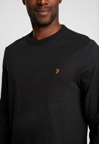 Farah - WORTH TEE - Bluzka z długim rękawem - deep black - 4