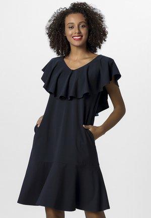 DRESS WITH VOLANTS - Robe d'été - midnightblue