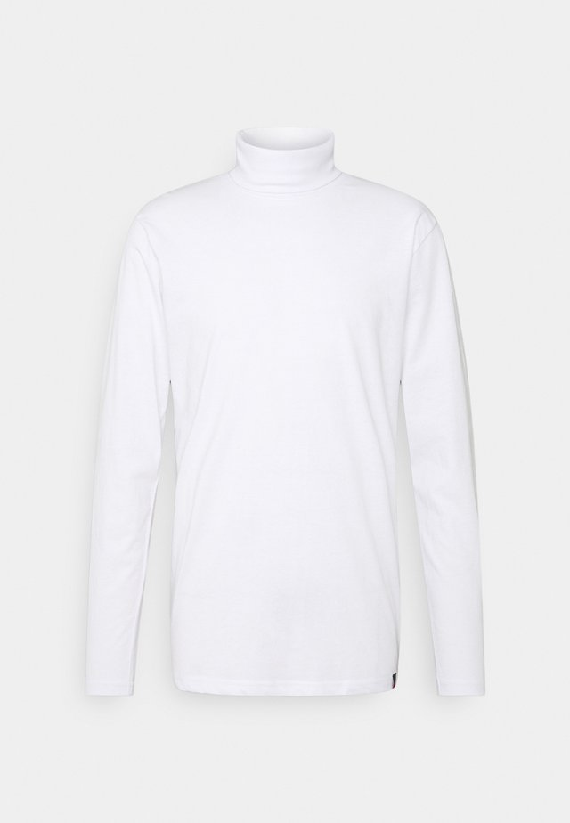ROLLNECK TEE - T-shirt à manches longues - white