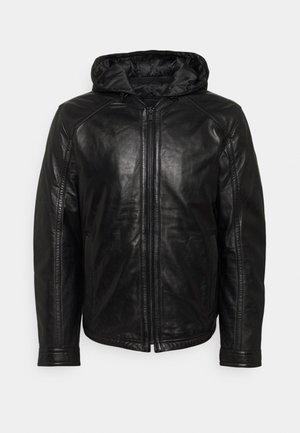 FANE - Leren jas - black