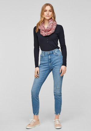 Snood - light pink multicolor floral aop