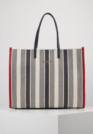 BEACH BAG STRIPE - Shopping bag - white