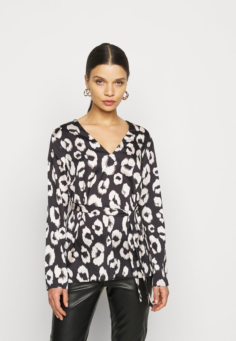 New Look Petite - MIA ANIMAL BELTED SHELL - Blouse - black