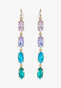 ONLY - ONLCALA LONG EARRING - Øredobber - gold-coloured/blush/clear/aqua - 3
