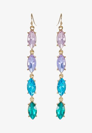 ONLCALA LONG EARRING - Øreringe - gold-coloured/blush/clear/aqua