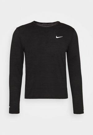 MILER - Sports shirt - black/silver
