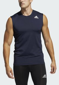 adidas Performance - TECHFIT SLEEVELESS FITTED TANK TOP - Top - blue - 2