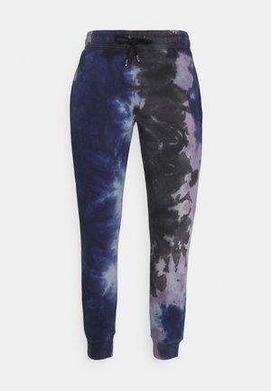 TIE DYE CREW JOGGER - Pantalon de survêtement - blue