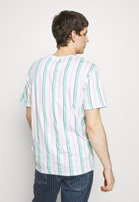 Common Kollectiv - UNISEX STRIPED AQUA TEE - Print T-shirt - white - 2