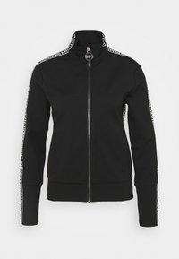 LOGO TAPE TRACK  - Zip-up hoodie - black
