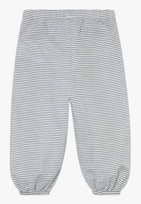 Müsli by GREEN COTTON - STRIPE BABY ZGREEN - Trousers - white/blue - 1