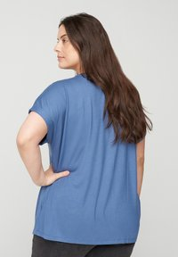 Zizzi - Basic T-shirt - blue - 2