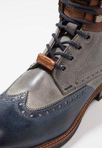 Bugatti - MARCELLO - Lace-up ankle boots - dark blue/grey - 5