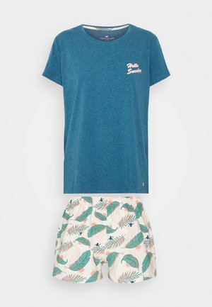SHORTY O NECK SET - Pyjamas - blue