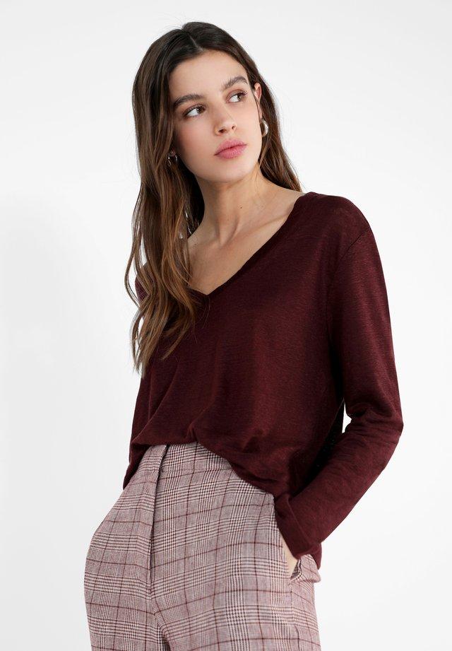 LIVU  - Long sleeved top - burgundy