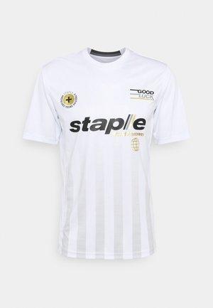 VERTICAL SOCCER UNISEX - Print T-shirt - white