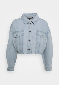 Missguided - CROPPED RAW HEM JACKET - Denim jacket - light blue - 0