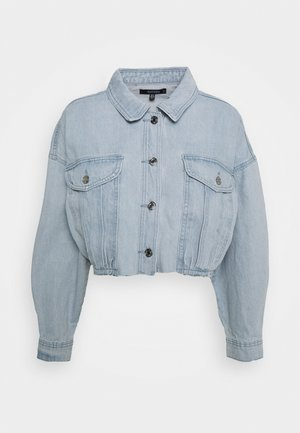 CROPPED RAW HEM JACKET - Denim jacket - light blue