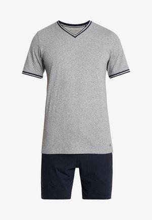 SET - Pyjama set - grey/dark blue