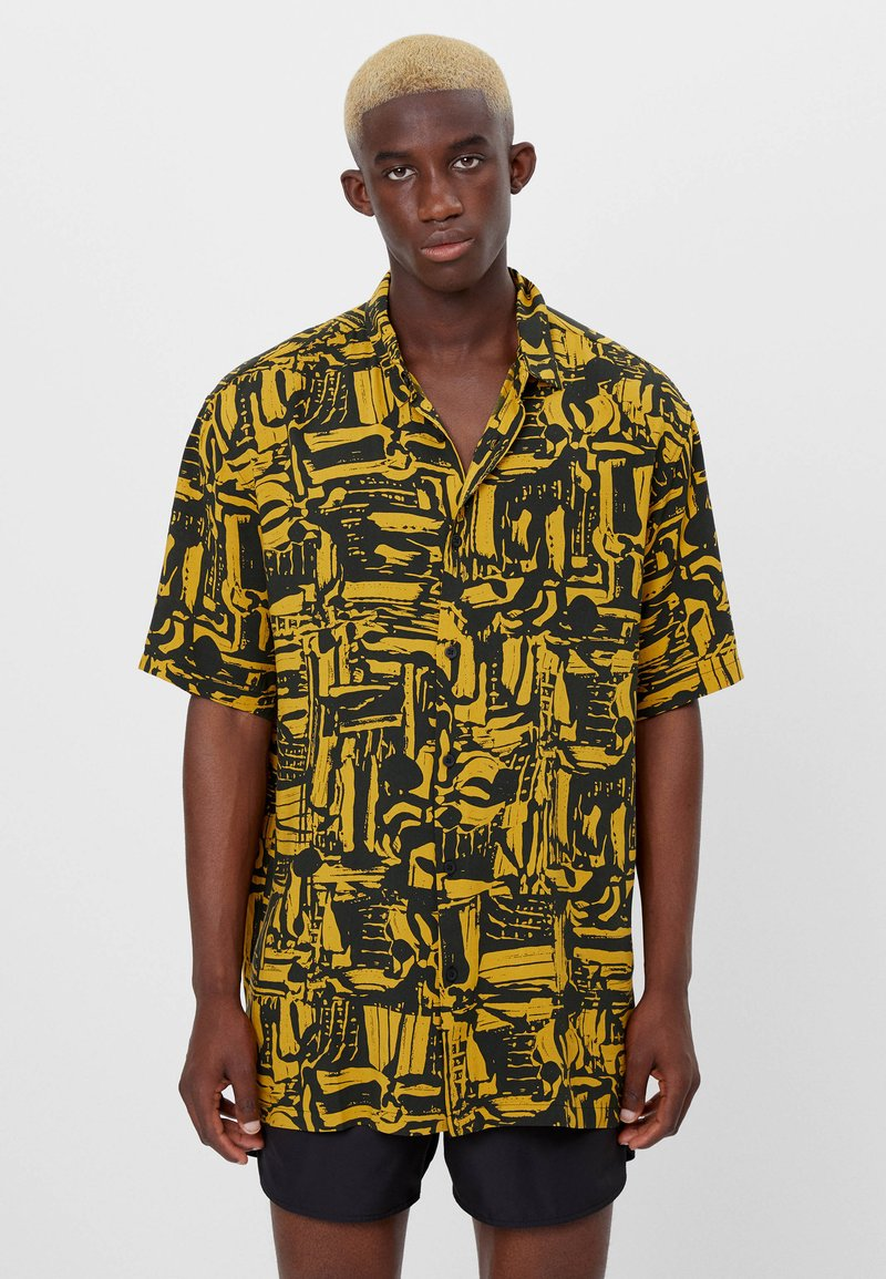 Bershka - Shirt - mustard yellow