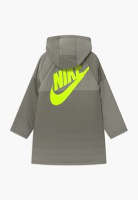 Nike Sportswear - REVERSIBLE - Winter coat - cargo khaki/stone/volt - 1