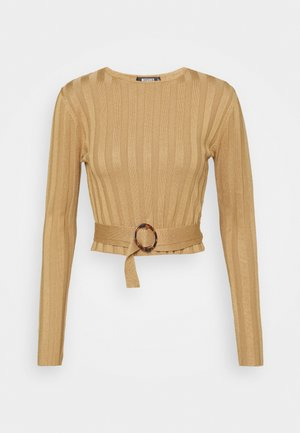 SHELL LONG SLEEVE - Strikkegenser - brown