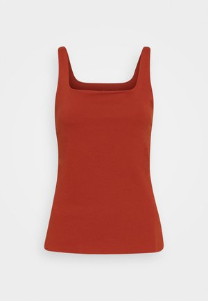THE YOGA LUXE TANK - Top - rugged orange/light sienna