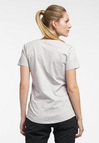 Haglöfs - MIRTH TEE - Print T-shirt - grey melange/purple milk - 1