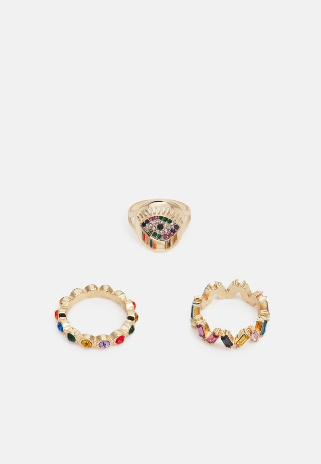 PCPEARL 3 PACK - Ring - gold-coloured/multi