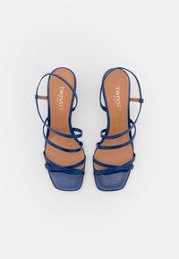 TWINSET - TACCO MEDIO  - Sandals - nautical blue - 4