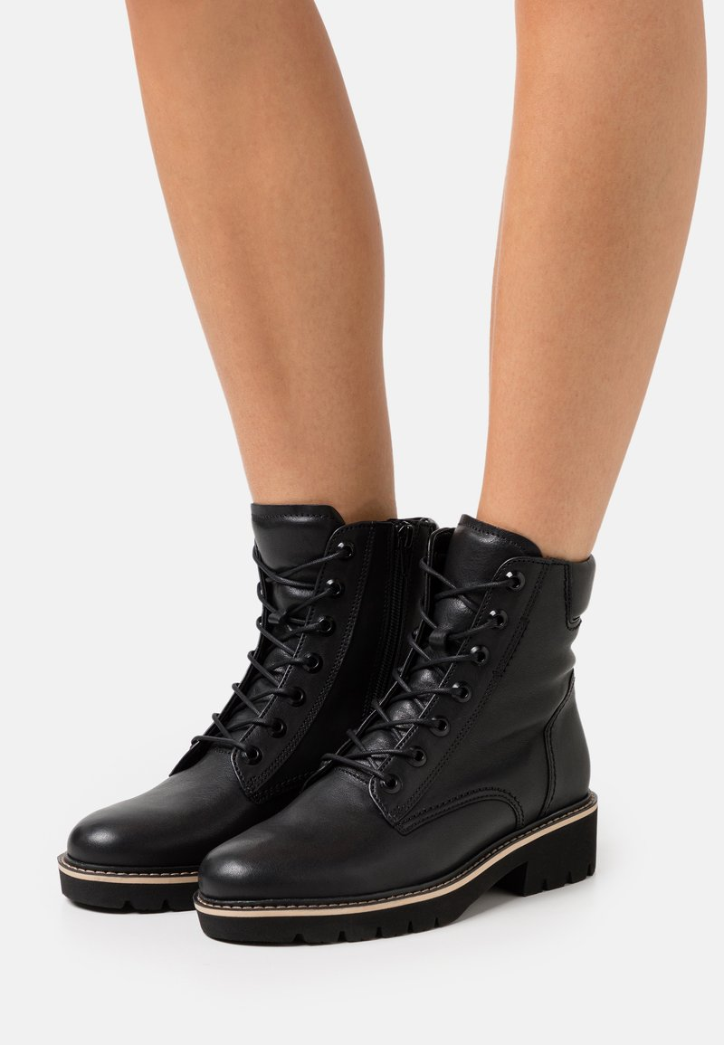 Gabor Comfort - Lace-up ankle boots - schwarz