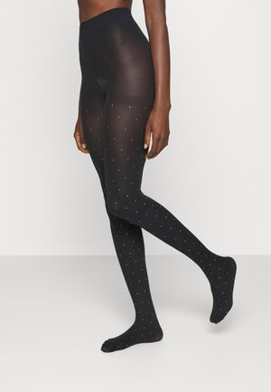 PEARL EFFECT - Tights - black/silver
