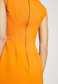 Closet - WRAP PENCIL DRESS - Shift dress - rust - 5