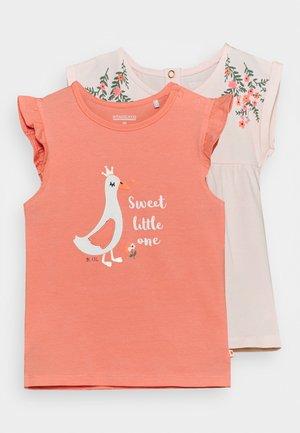 2 PACK  - Print T-shirt - apricot/light pink