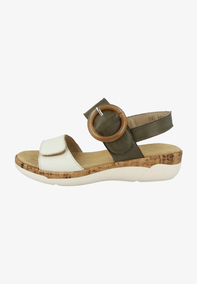 REMONTE R6853  - Sandalen met sleehak - off white-forest