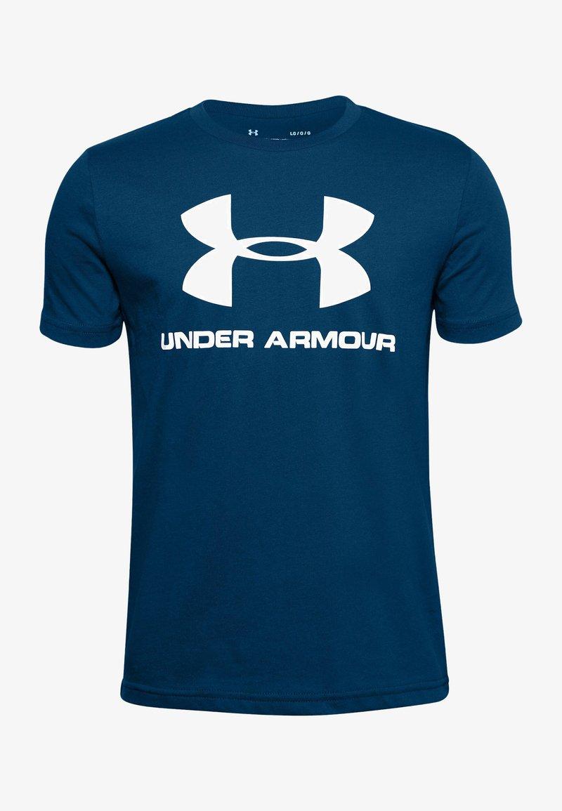 Under Armour - Print T-shirt - graphite blue