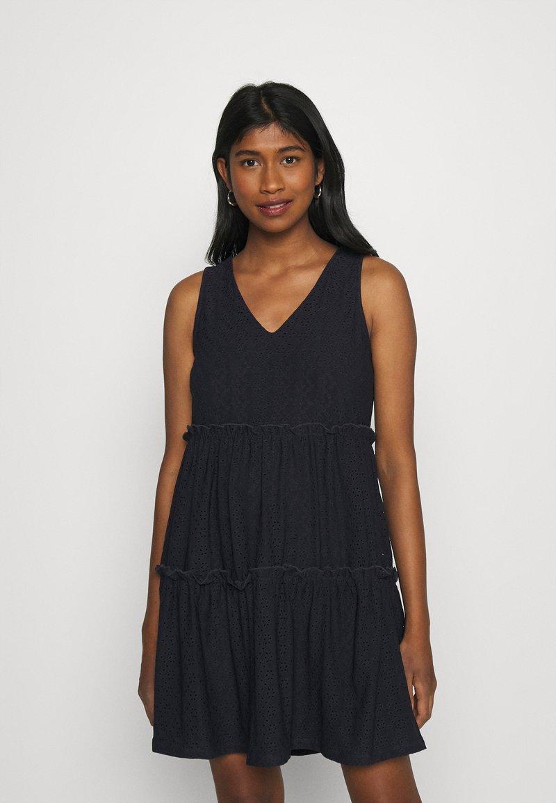 ONLY - ONLLINA V NECK DRESS - Jersey dress - night sky