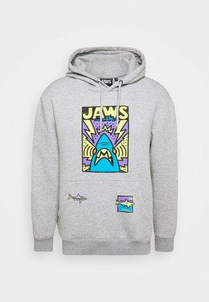 JAWS CARTOON HOOD - Hoodie - grey marl