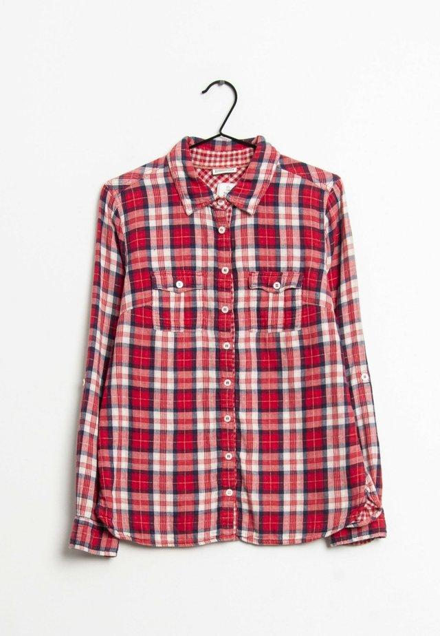 Overhemdblouse - red