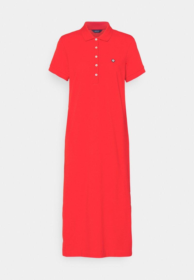 GANT - POLO DRESS - Sukienka letnia - lava red