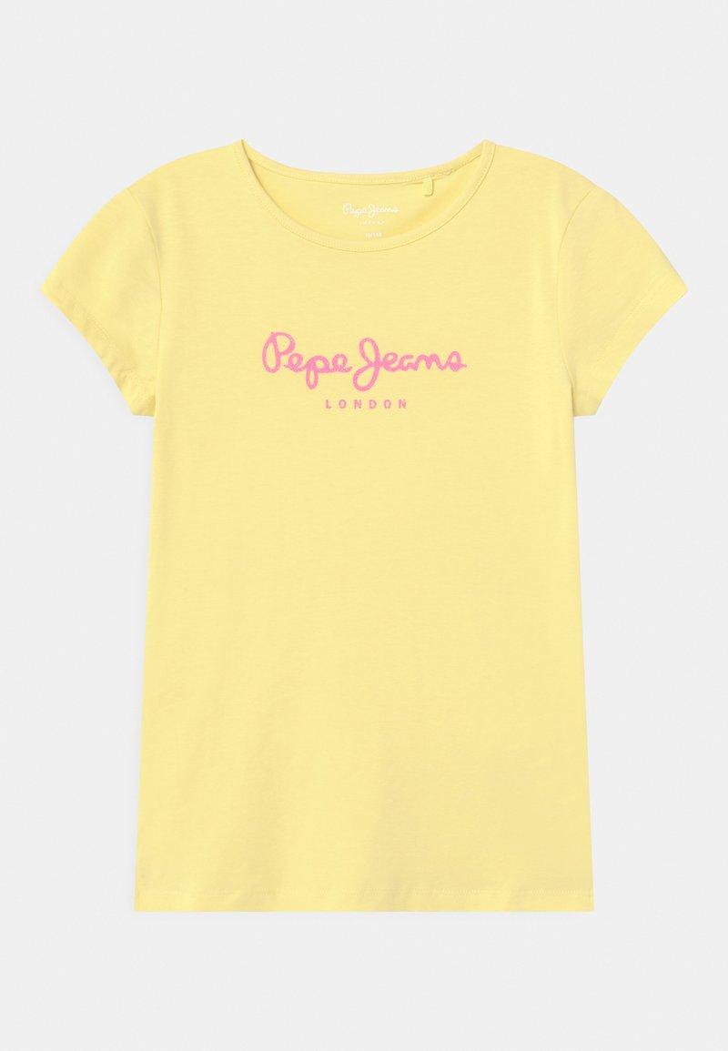 Pepe Jeans - HANA GLITTER - T-shirts print - yellow