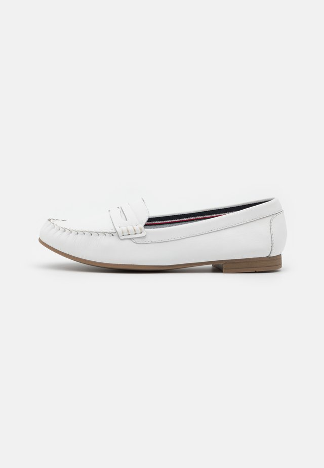 LEATHER - Instappers - white
