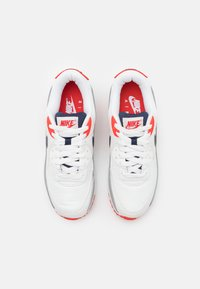 Nike Sportswear - AIR MAX 90 - Sneakersy niskie - summit white/thunder blue/cement grey/chile red/white - 3