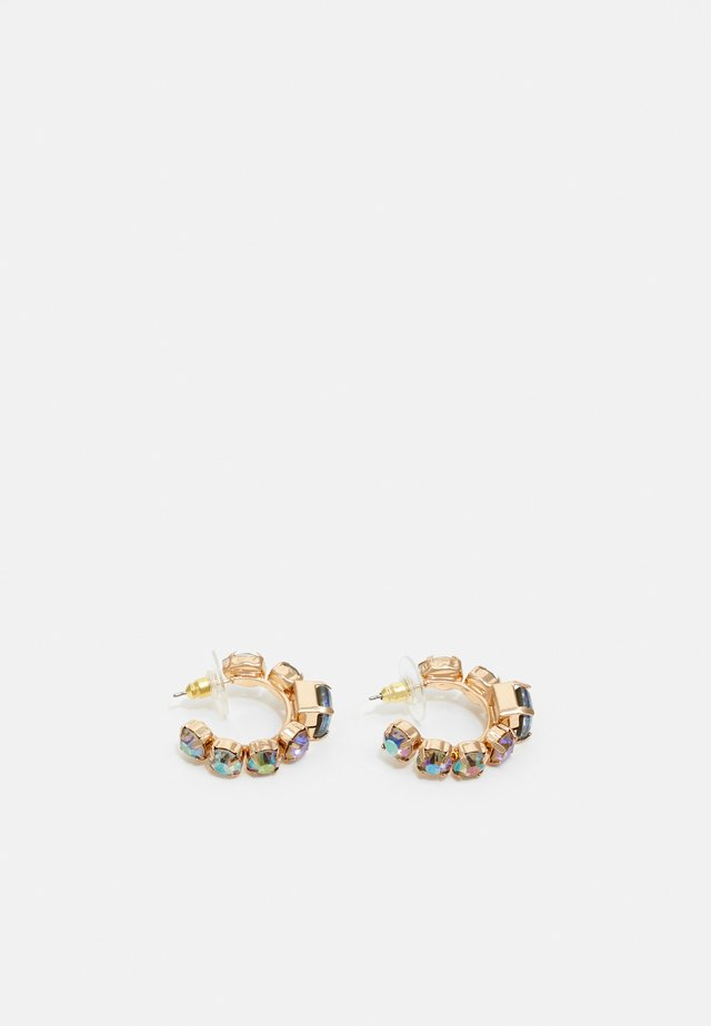 EUCA - Earrings - gold-coloured/purple